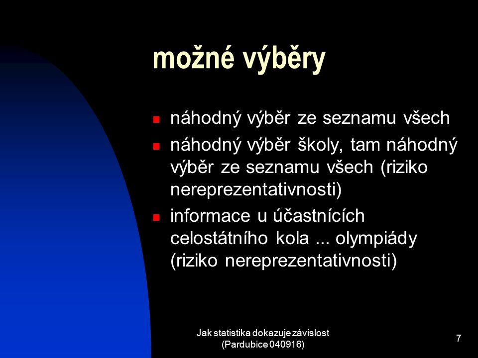 Jak statistika dokazuje závislost (Pardubice 040916)