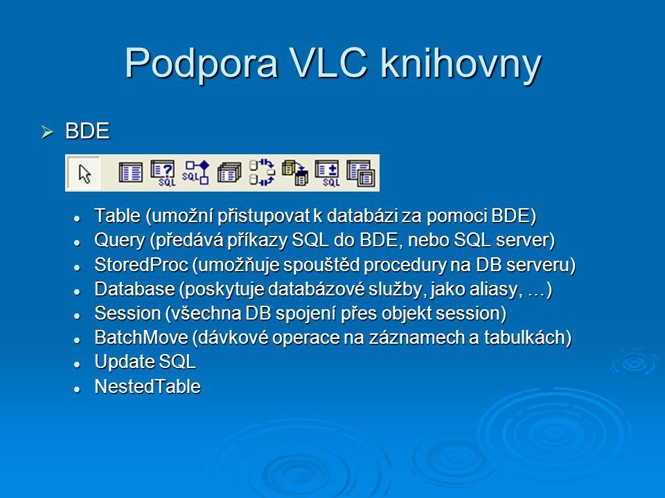 Podpora VLC knihovny BDE