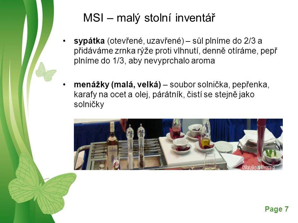 MSI – malý stolní inventář