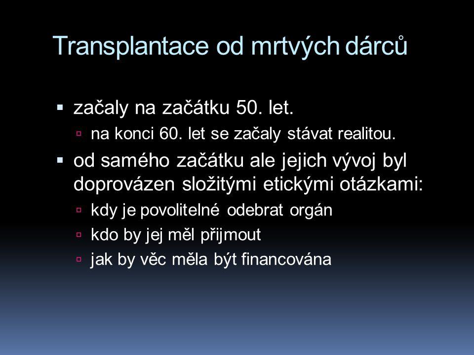 Transplantace od mrtvých dárců