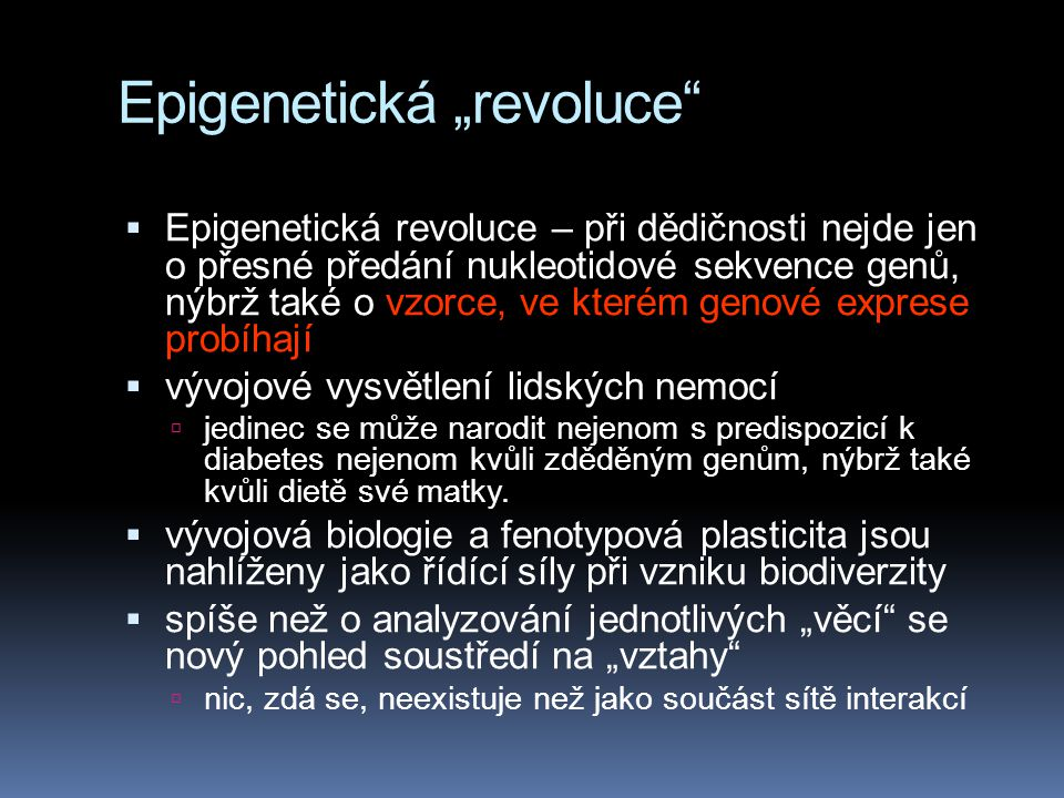"Epigenetická ""revoluce"