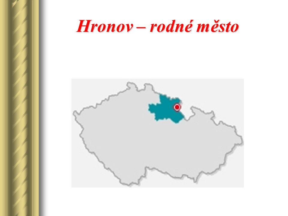 Hronov – rodné město