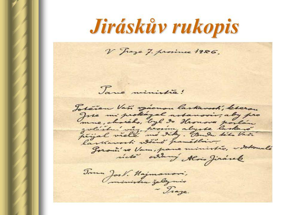 Jiráskův rukopis