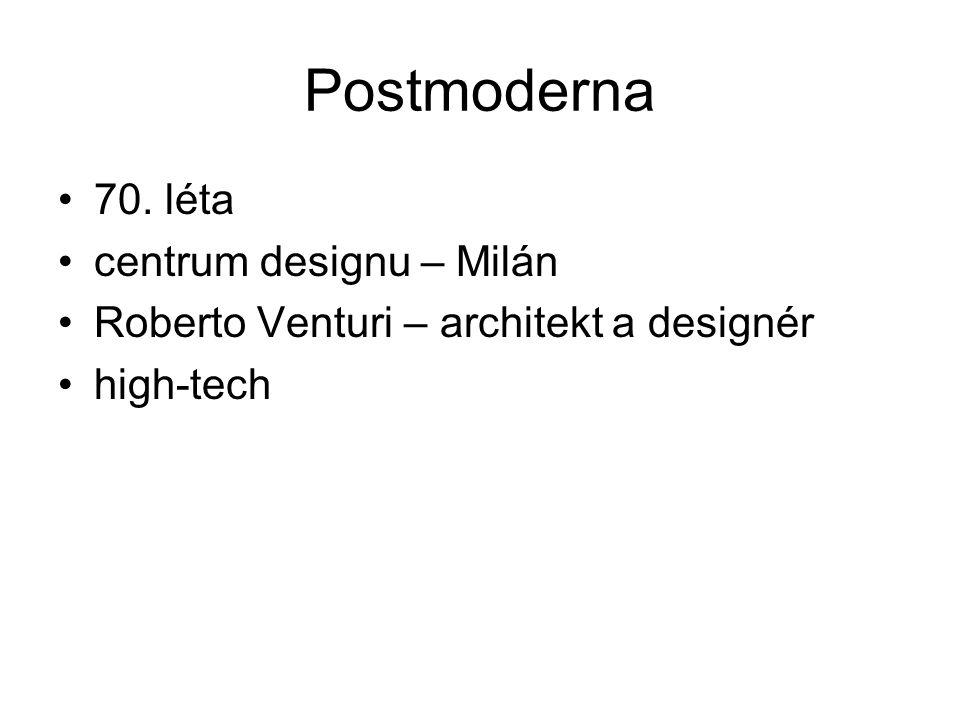 Postmoderna 70. léta centrum designu – Milán