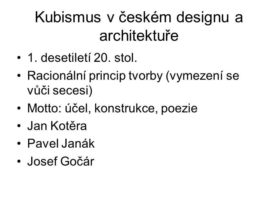 Kubismus v českém designu a architektuře