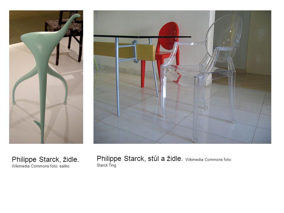 Philippe Starck, židle. Wikimedia Commons foto: sailko