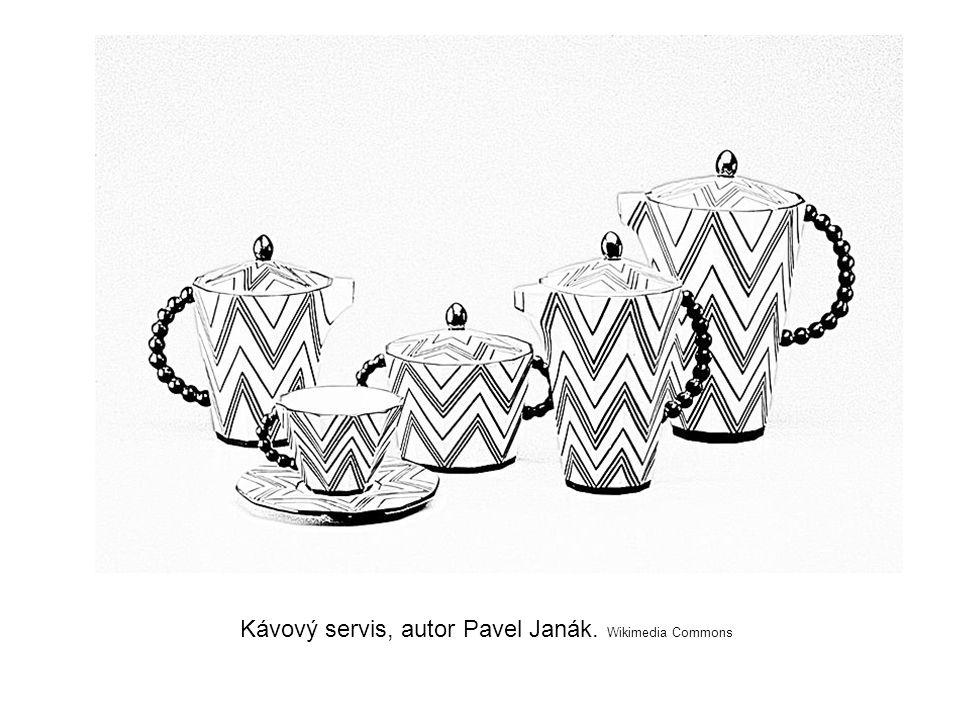 Kávový servis, autor Pavel Janák. Wikimedia Commons