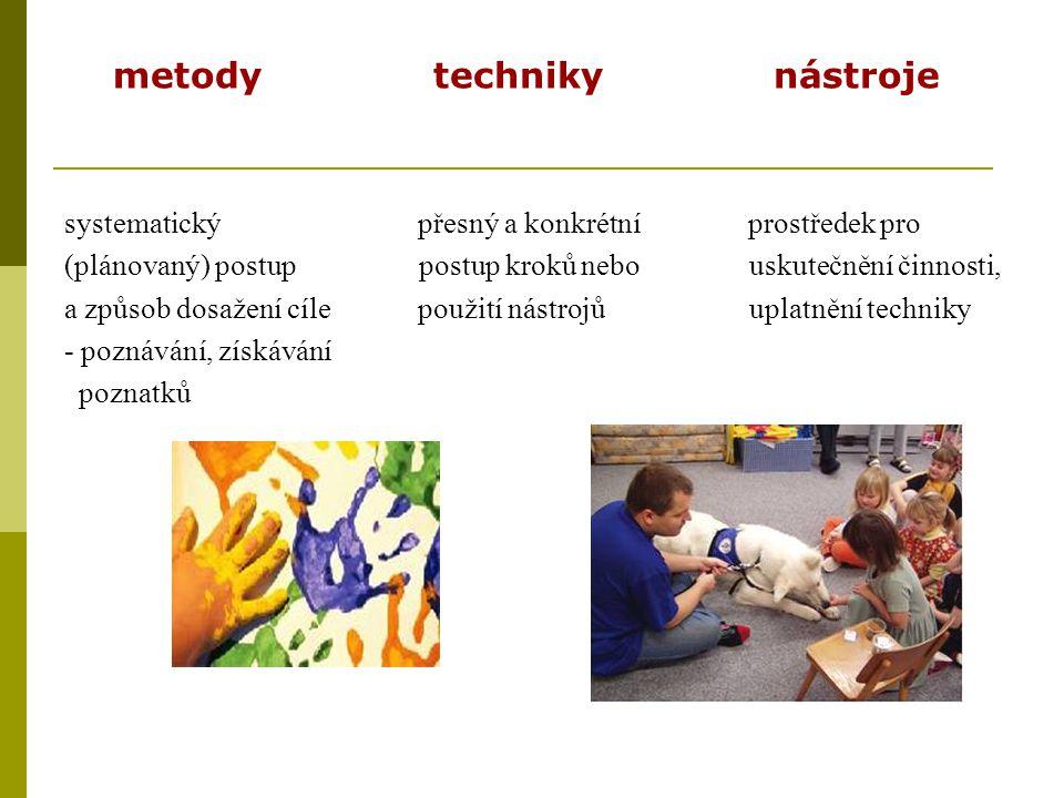 metody techniky nástroje