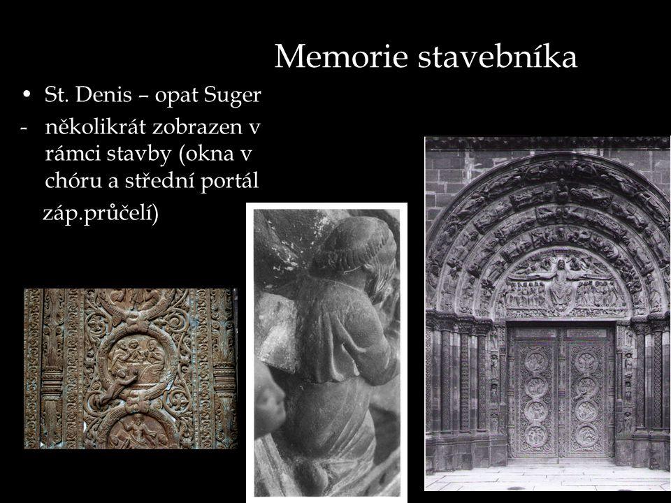 Memorie stavebníka St. Denis – opat Suger