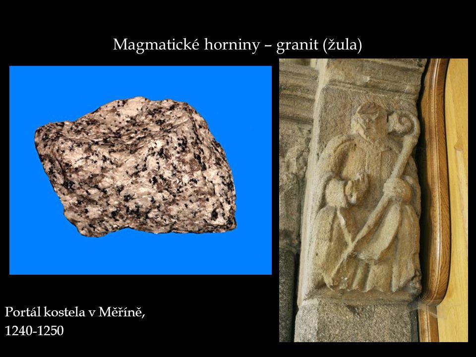 Magmatické horniny – granit (žula)