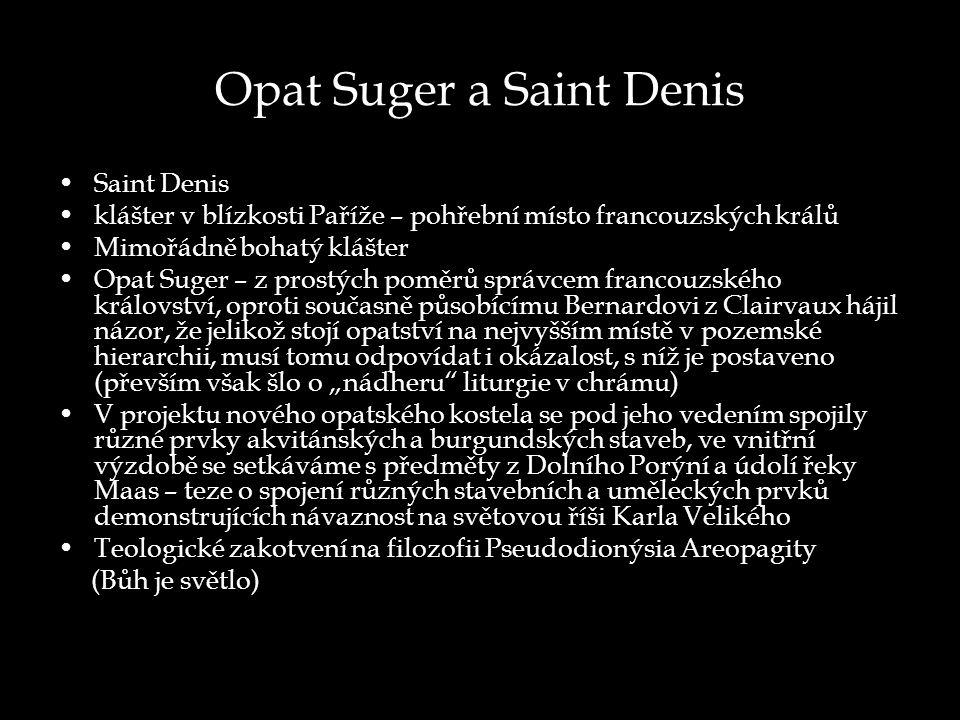 Opat Suger a Saint Denis