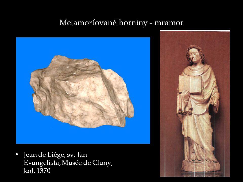 Metamorfované horniny - mramor