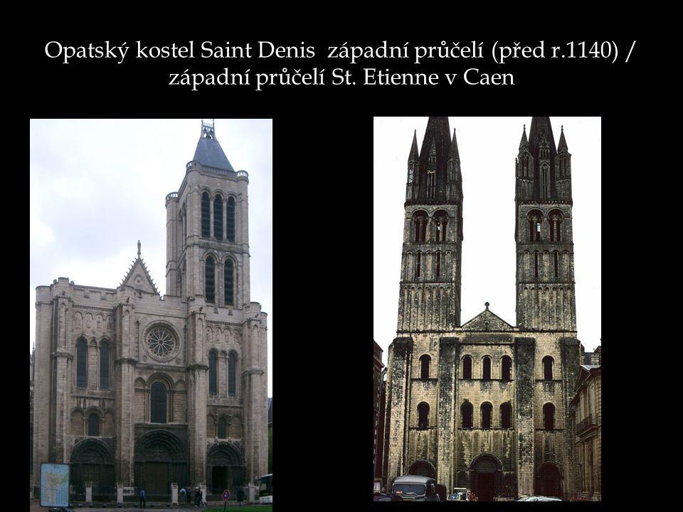 Opatský kostel Saint Denis západní průčelí (před r