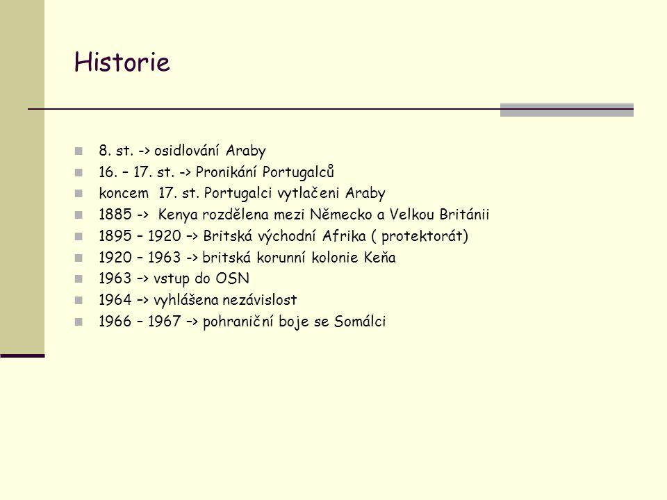 Historie 8. st. -> osidlování Araby