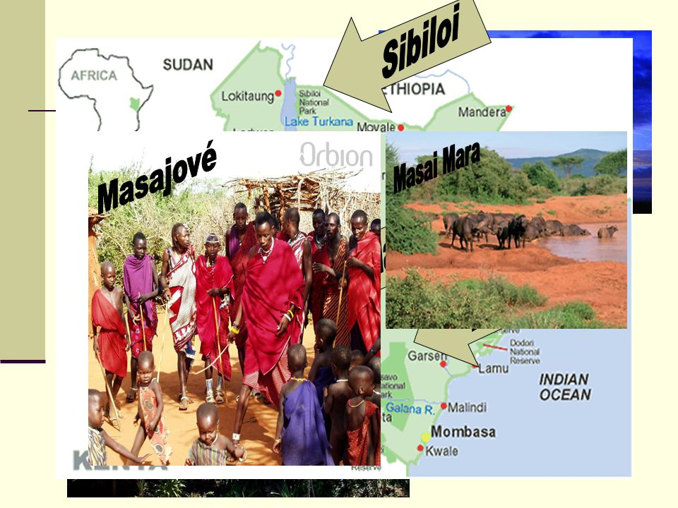 Sibiloi Akacie Masai Mara Masajové Baobab Masai Mara Tsavo Příroda