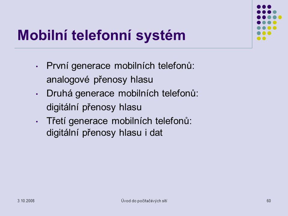 Mobilní telefonní systém