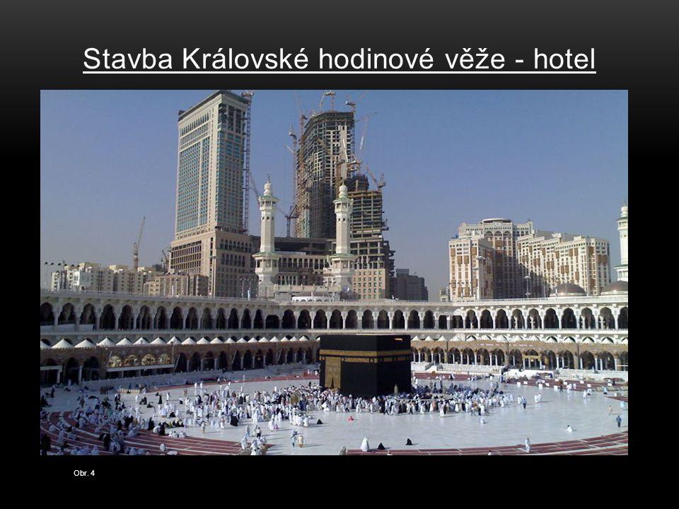 Stavba Královské hodinové věže - hotel