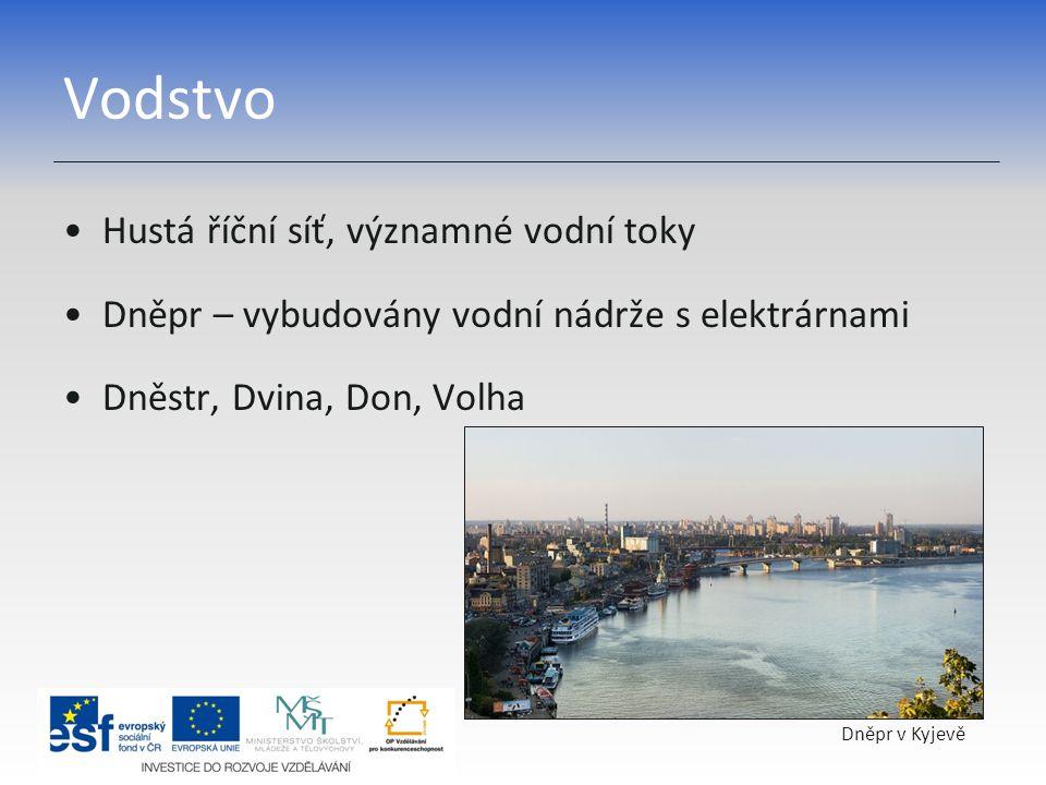 Vodstvo Hustá říční síť, významné vodní toky