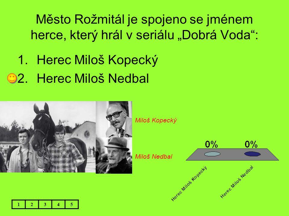 """Město Rožmitál je spojeno se jménem herce, který hrál v seriálu """"Dobrá Voda :"""