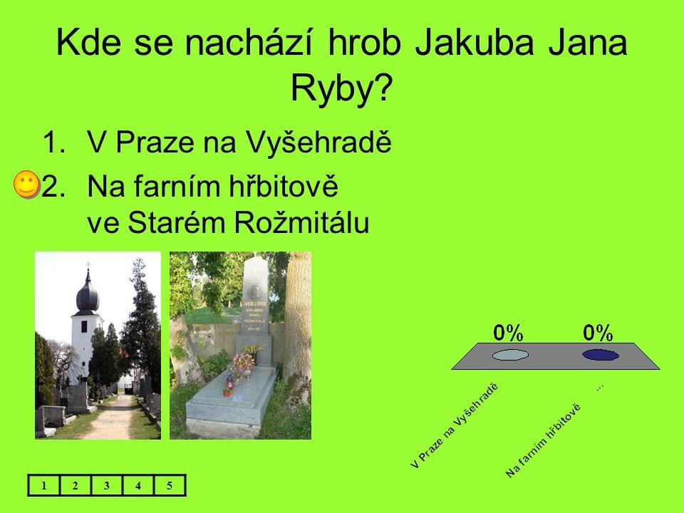 Kde se nachází hrob Jakuba Jana Ryby
