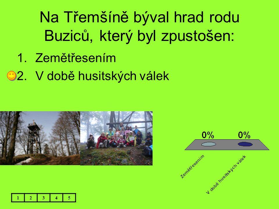Na Třemšíně býval hrad rodu Buziců, který byl zpustošen: