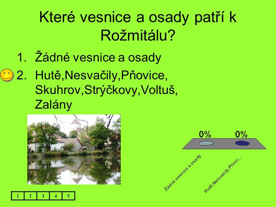 Které vesnice a osady patří k Rožmitálu