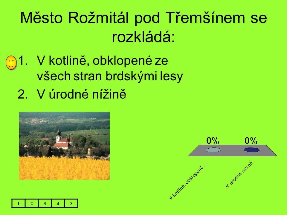 Město Rožmitál pod Třemšínem se rozkládá:
