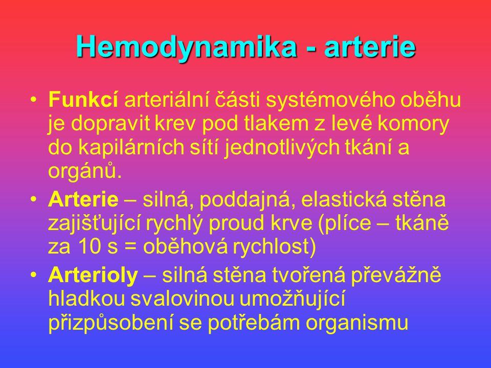 Hemodynamika - arterie