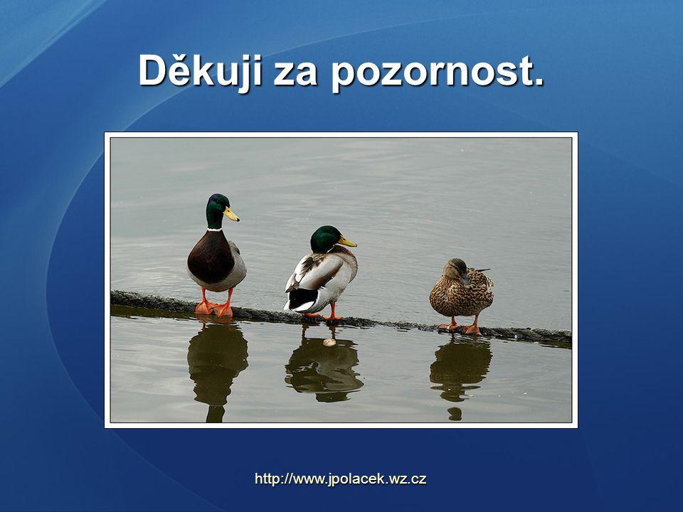 Děkuji za pozornost. http://www.jpolacek.wz.cz