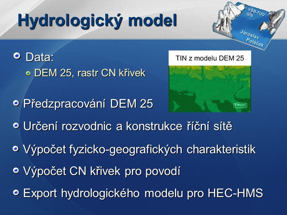 Hydrologický model Data: Předzpracování DEM 25