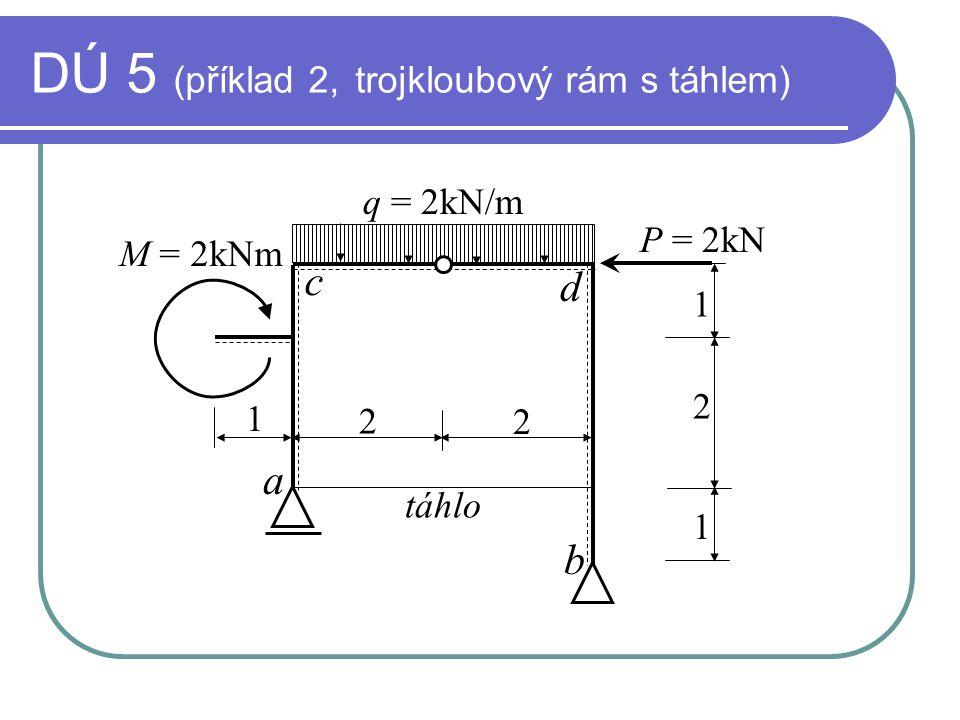 DÚ 5 (příklad 2, trojkloubový rám s táhlem)