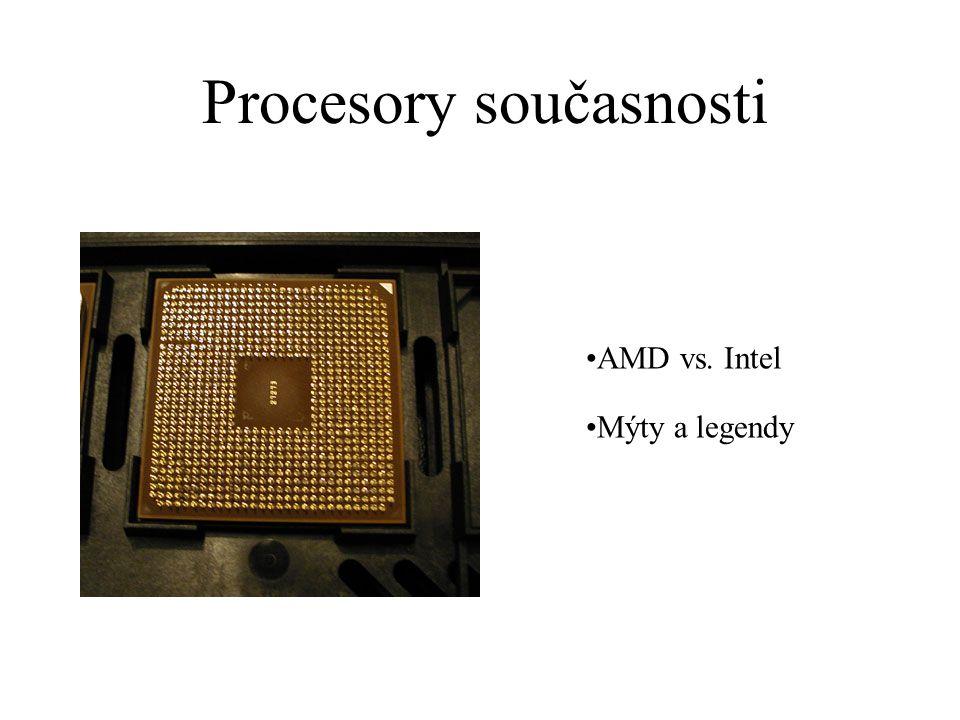 Procesory současnosti