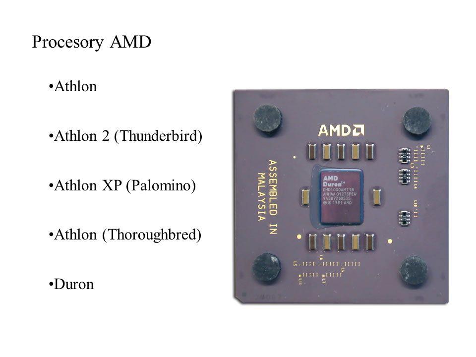 Procesory AMD Athlon Athlon 2 (Thunderbird) Athlon XP (Palomino)