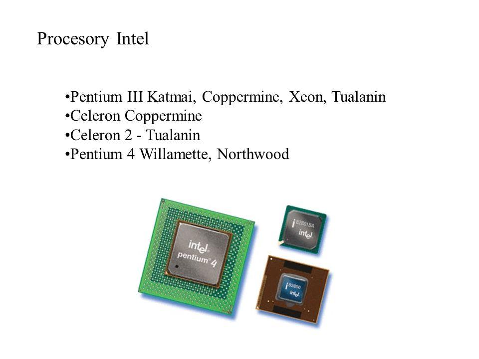 Procesory Intel Pentium III Katmai, Coppermine, Xeon, Tualanin