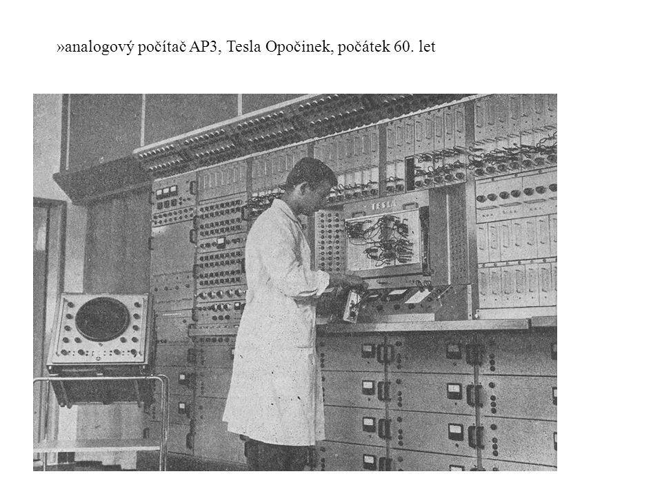 analogový počítač AP3, Tesla Opočinek, počátek 60. let