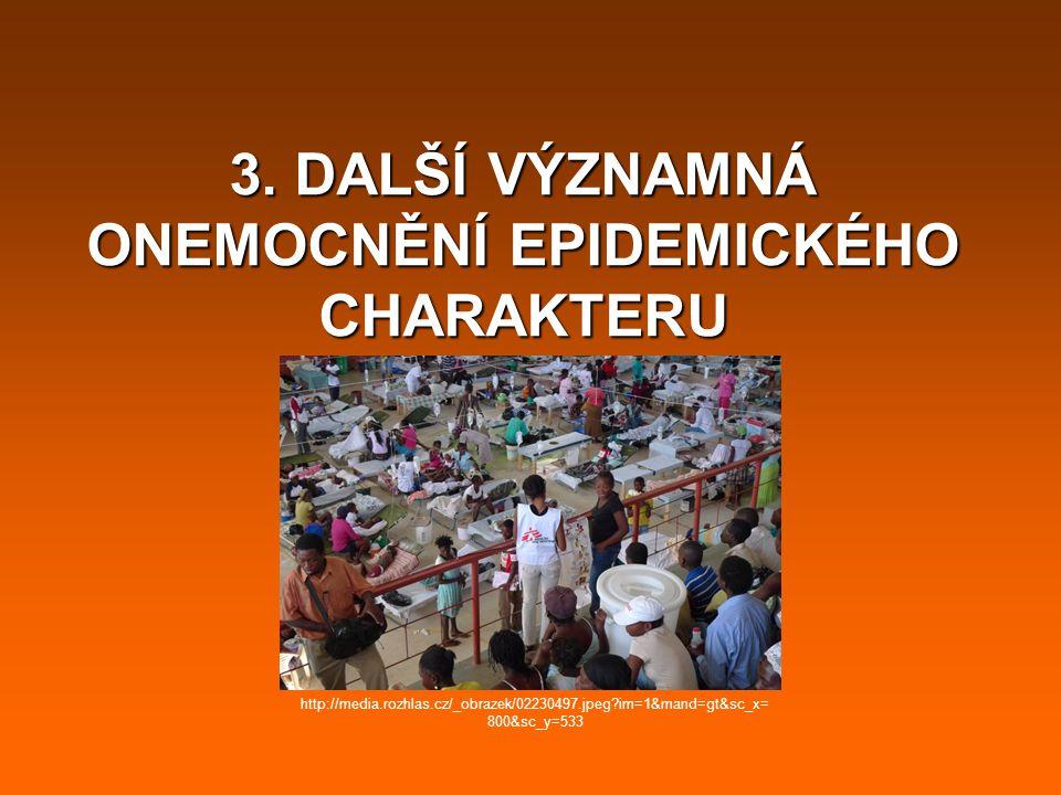 3. DALŠÍ VÝZNAMNÁ ONEMOCNĚNÍ EPIDEMICKÉHO CHARAKTERU