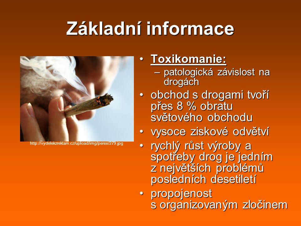 Základní informace Toxikomanie: