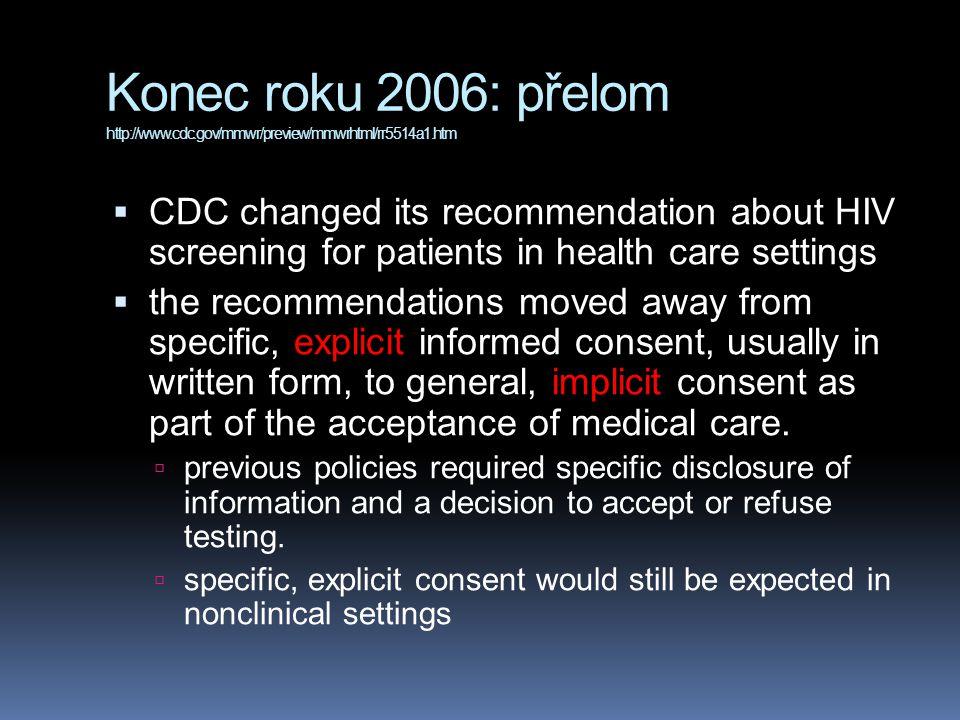 Konec roku 2006: přelom http://www. cdc