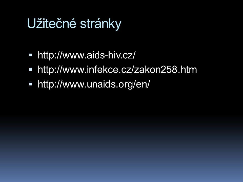 Užitečné stránky http://www.aids-hiv.cz/