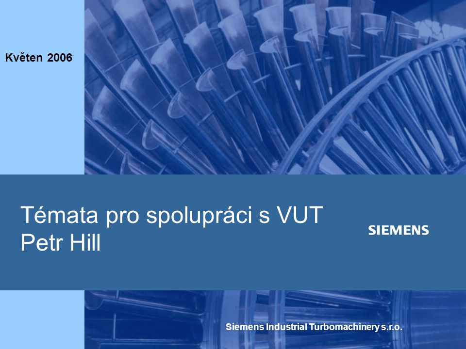 Témata pro spolupráci s VUT Petr Hill