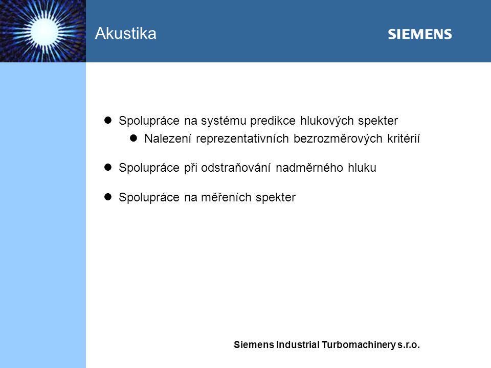 Akustika Spolupráce na systému predikce hlukových spekter