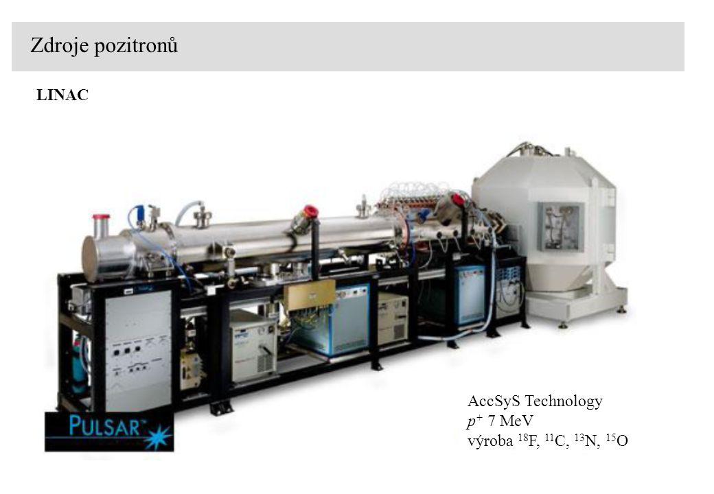 Zdroje pozitronů LINAC AccSyS Technology p+ 7 MeV