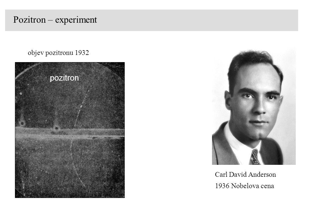 Pozitron – experiment pozitron objev pozitronu 1932