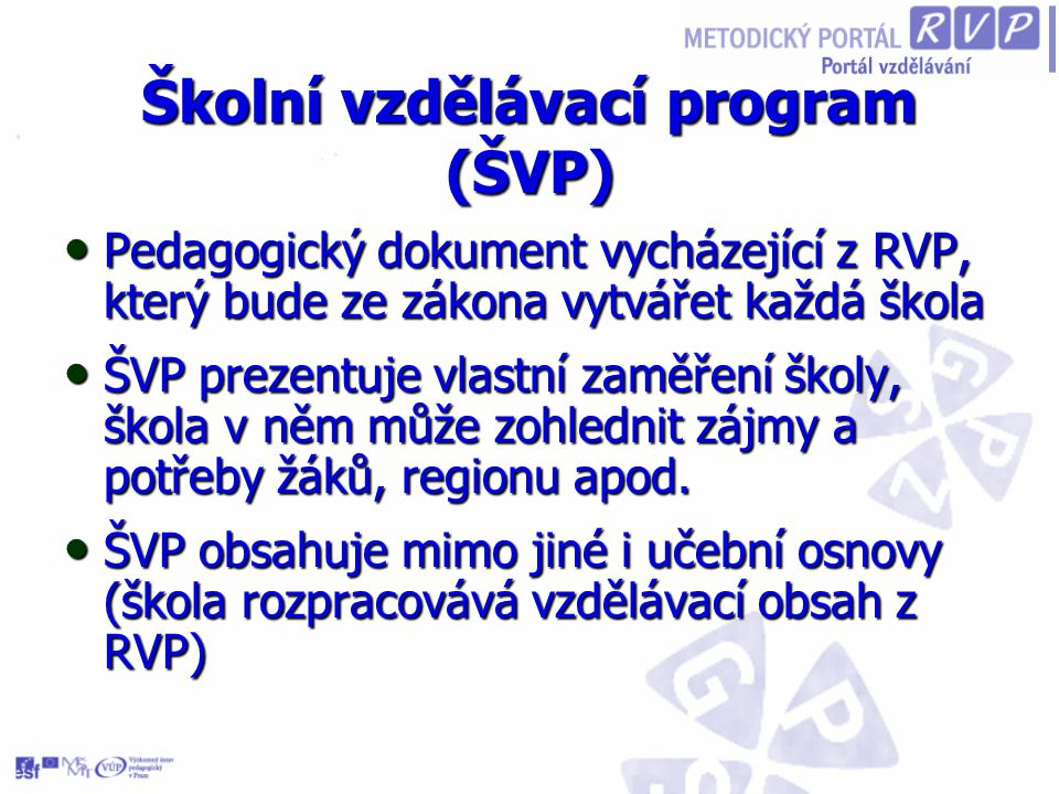 Školní vzdělávací program (ŠVP)