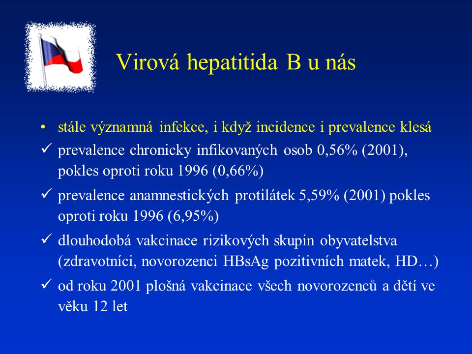 Virová hepatitida B u nás