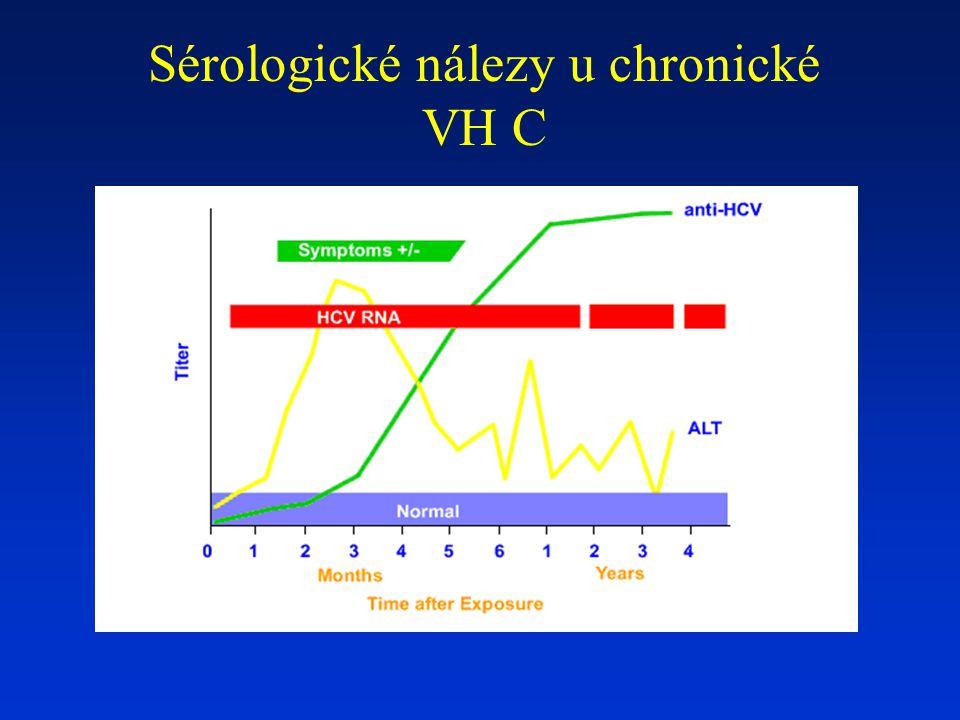Sérologické nálezy u chronické VH C