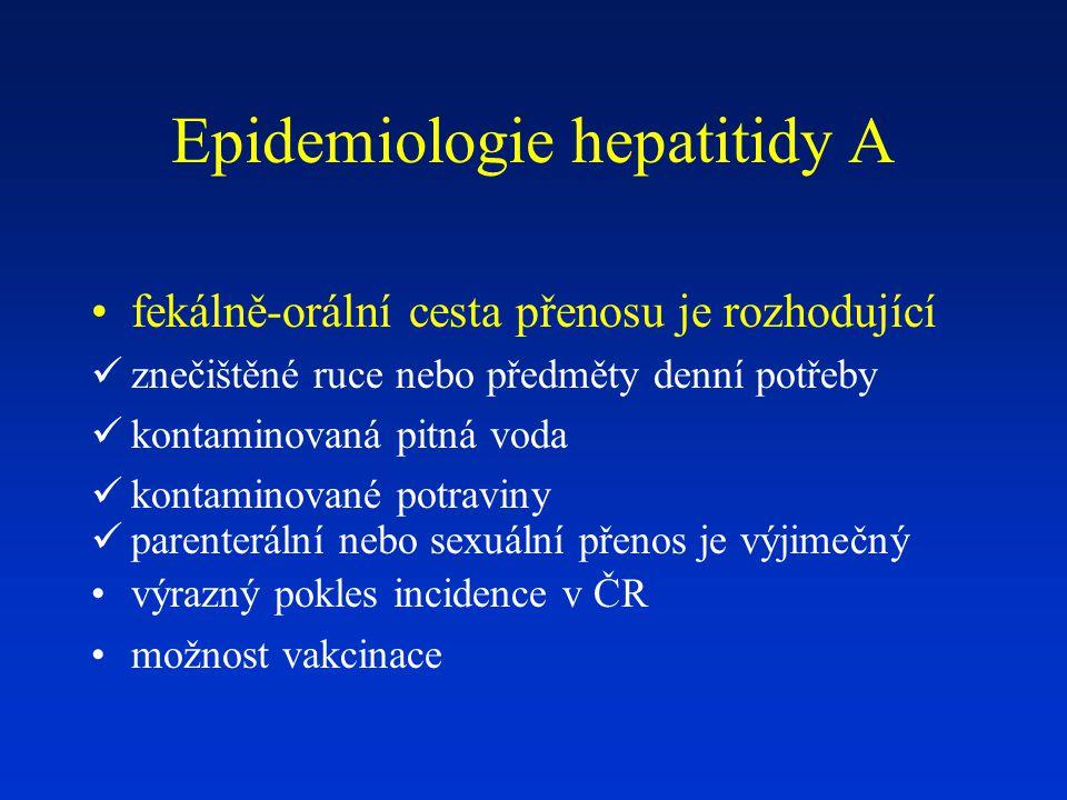 Epidemiologie hepatitidy A