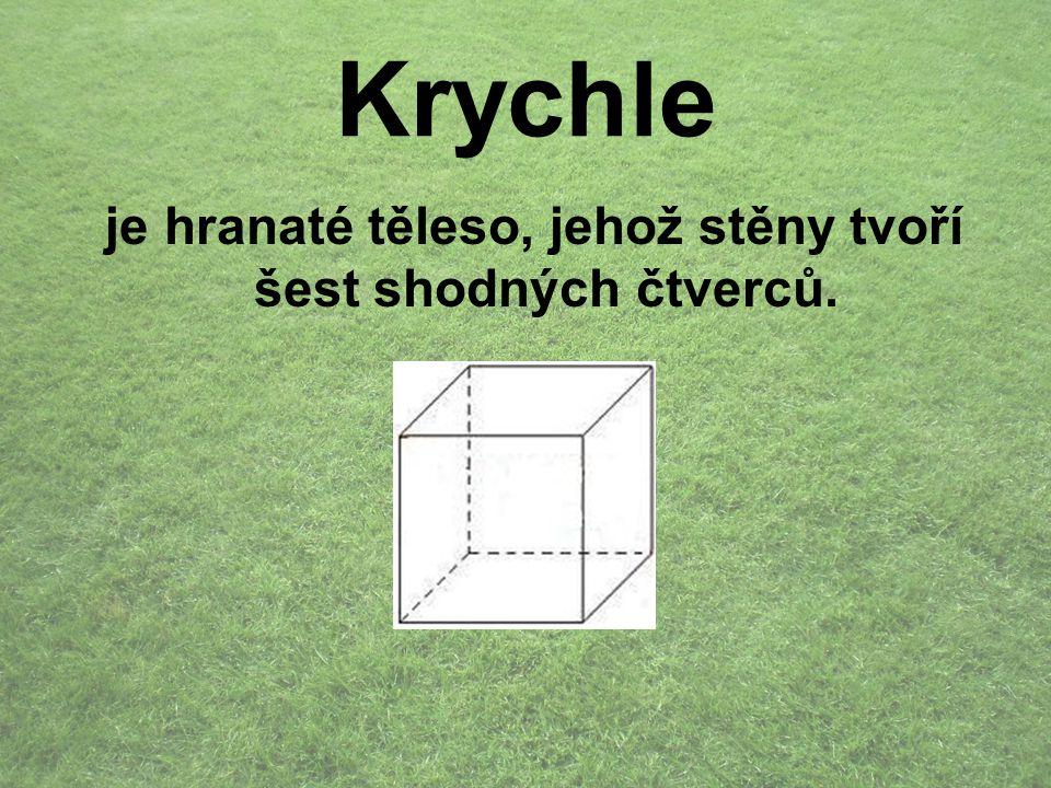 je hranaté těleso, jehož stěny tvoří šest shodných čtverců.