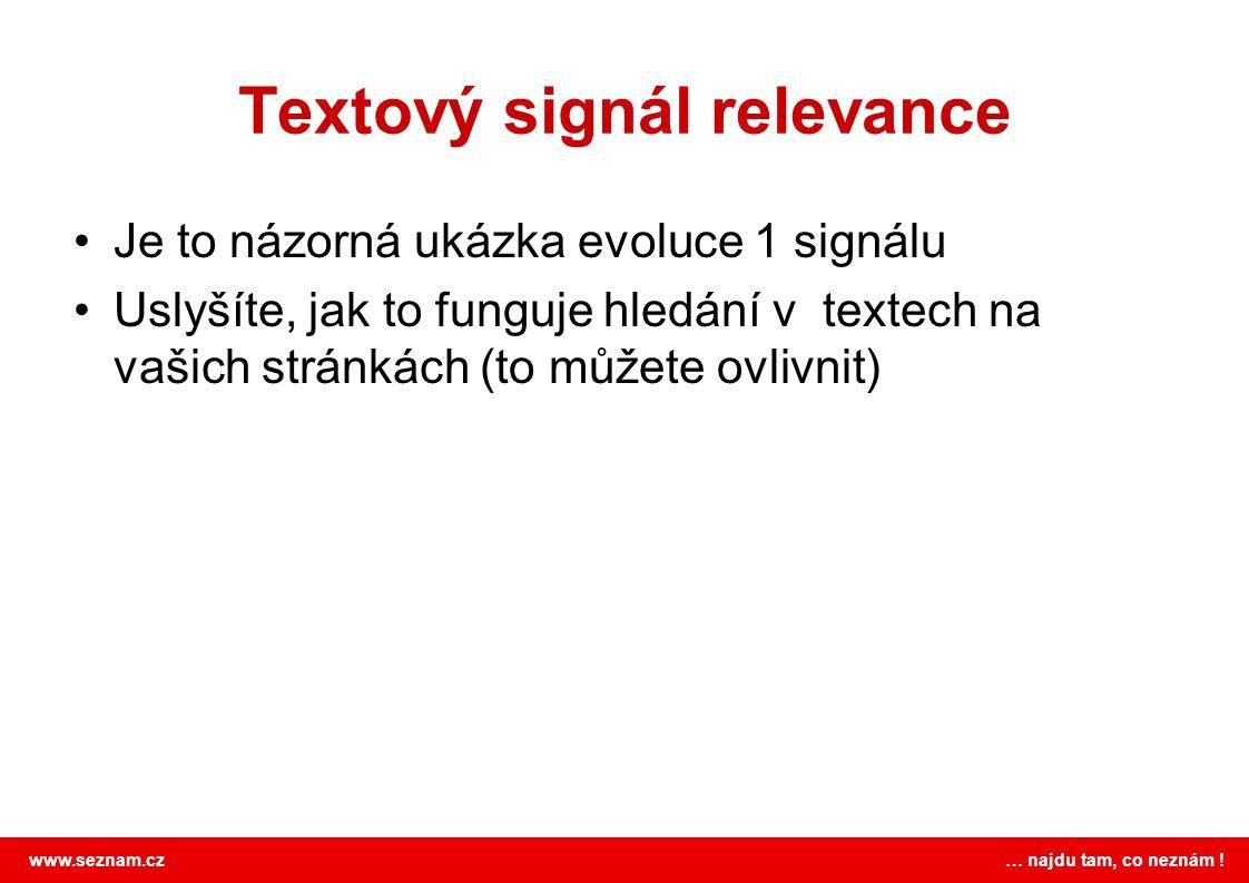 Textový signál relevance