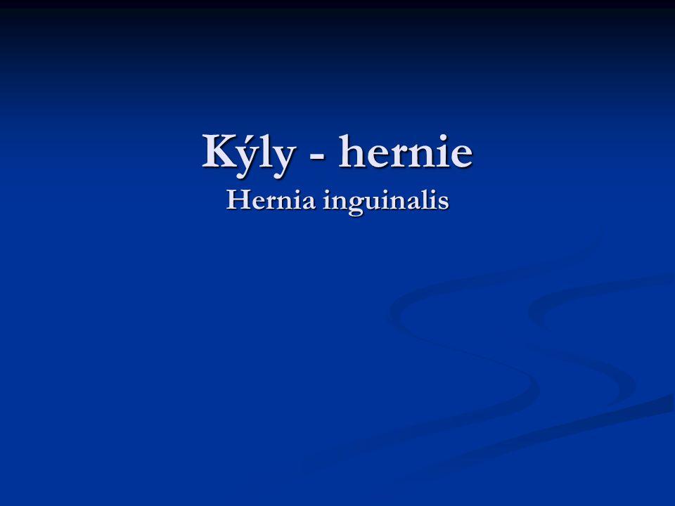 Kýly - hernie Hernia inguinalis